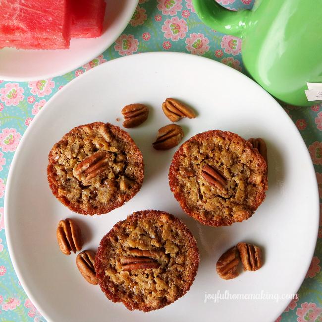 pecan pie muffins, Pecan Pie Muffins, Joyful Homemaking