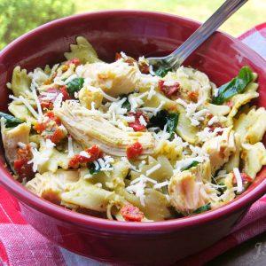 Pesto & Sundried Tomato Pasta Salad, Joyful Homemaking