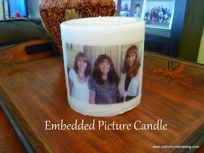 photo transfer on a candle, Photo Transfer onto a Candle, Joyful Homemaking