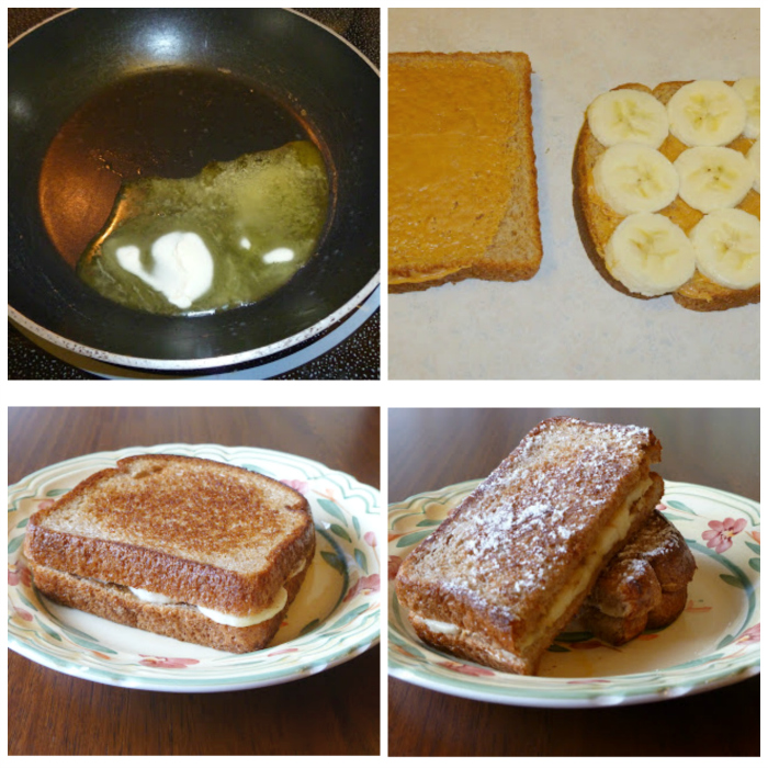 tasted peanut butter and banana sandwich, Toasted Peanut Butter and Banana Sandwich, Joyful Homemaking