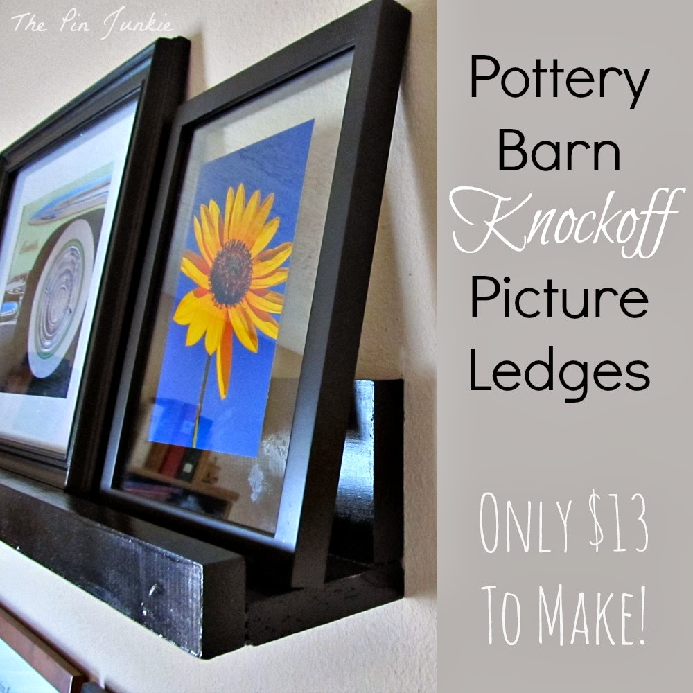 DIY Pottery Barn picture ledge