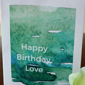 Printable Birthday Card and Envelope