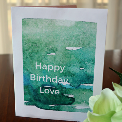 Printable Birthday Card and Envelope