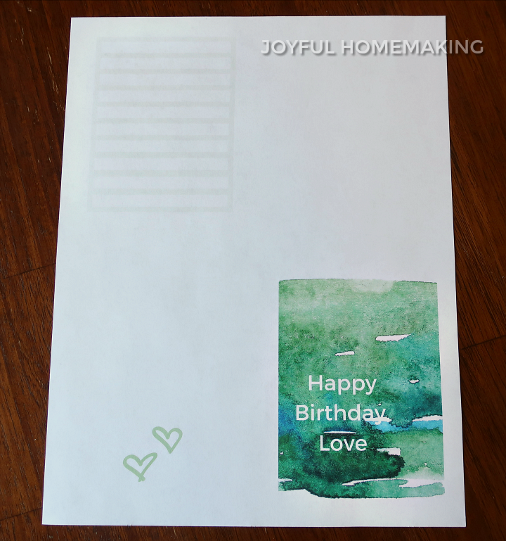Printable Husband Birthday Card, Printable Birthday Card and Envelope, Joyful Homemaking
