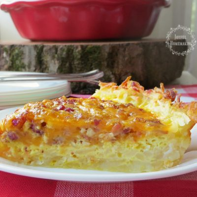 Quiche with Hash Brown Crust