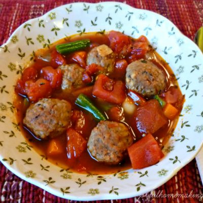 Quick Italian Meatball Soup