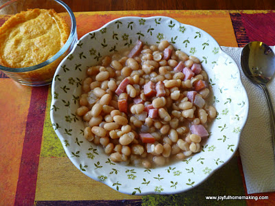 Quick navy bean and ham soup