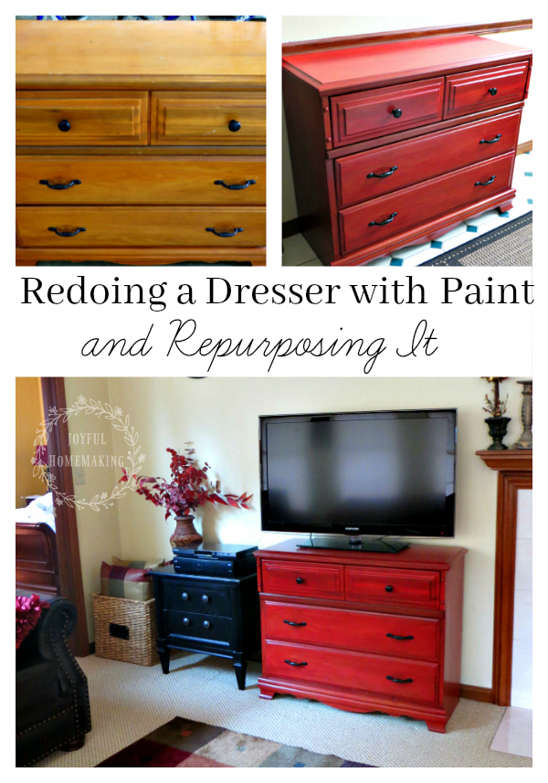 Redoing a Dresser with Paint