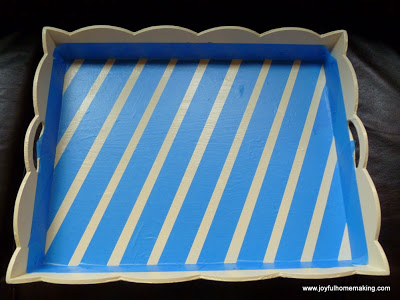 Rummage Sale Tray Makeover, Joyful Homemaking