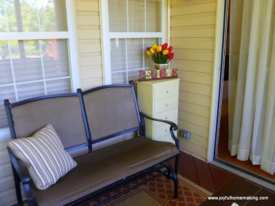 Screened Porch Makeover, Joyful Homemaking
