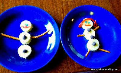 edible snowman, Snowman Kid Fun, Joyful Homemaking