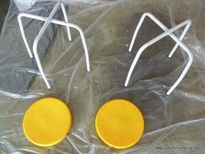 , Spray Painted Stools, Joyful Homemaking