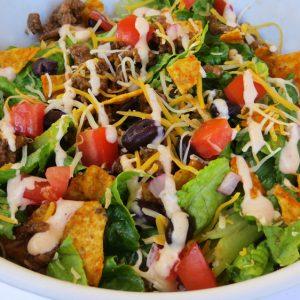 Taco Salad with Doritos, Joyful Homemaking