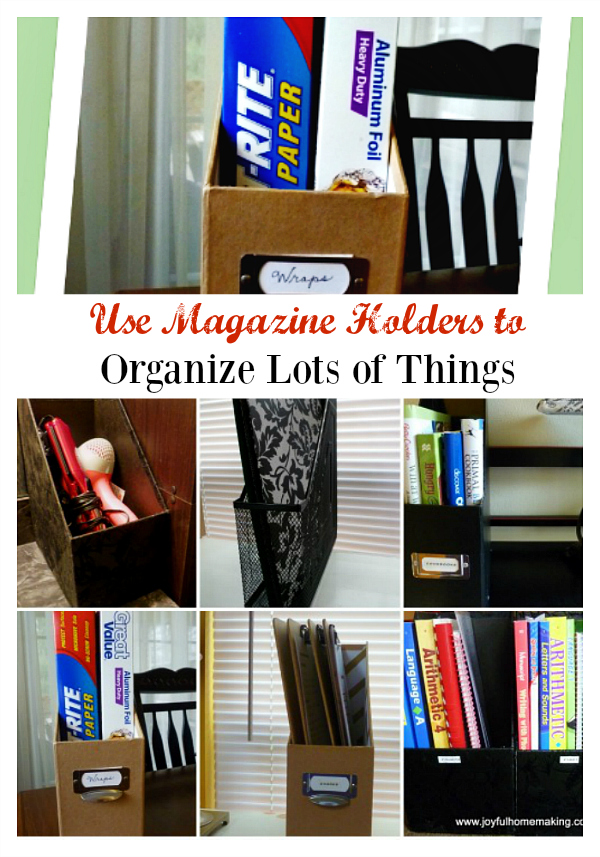 Use Magazine Holders to Organize