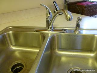 vingear cleans mineral deposits sink, Vinegar as a Mineral Deposit Sink Cleanser, Joyful Homemaking