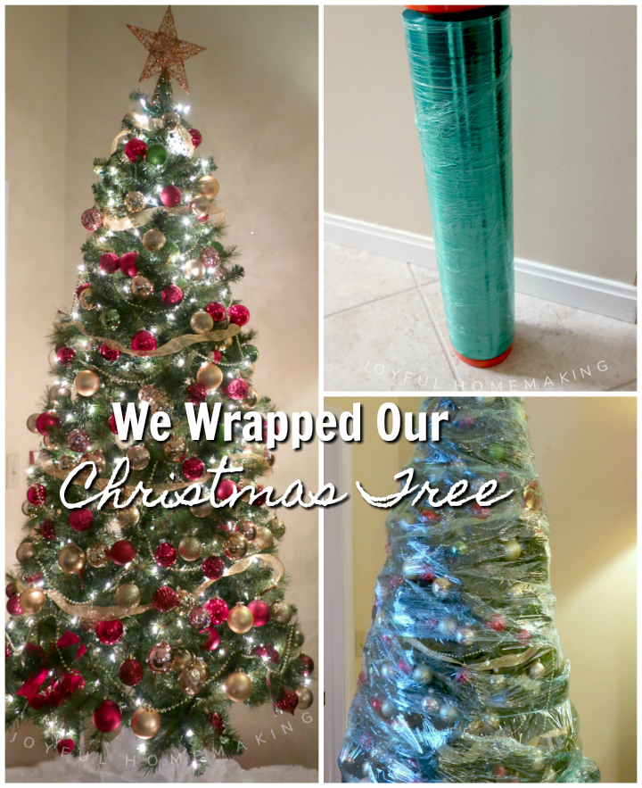 We Wrapped Our Christmas Tree, Joyful Homemaking