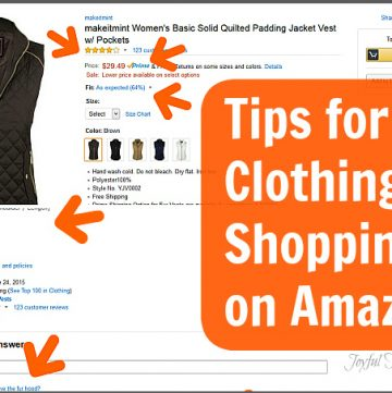 Tips for Clothing Shopping on Amazon