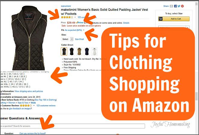 Tips for Clothing Shopping on Amazon