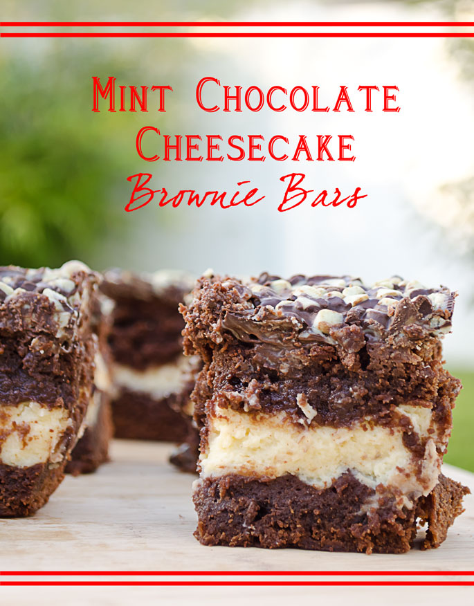 Mint Chocolate Cheesecake Brownie Bars