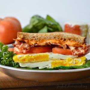 Sundried Tomato Mayo, Bacon & Egg Sandwich