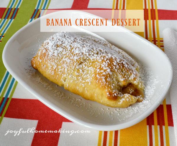 Banana Crescent Dessert