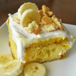 banana pudding poke cake featured
