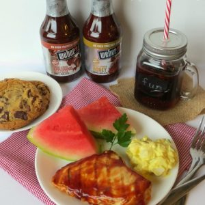 Weber Barbeque Sauce and Grilling Chicken Breasts