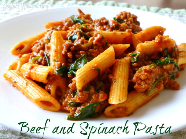 beef and spinach pasta2