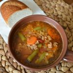 Crock Pot Beef Vegetable and Rice Soup