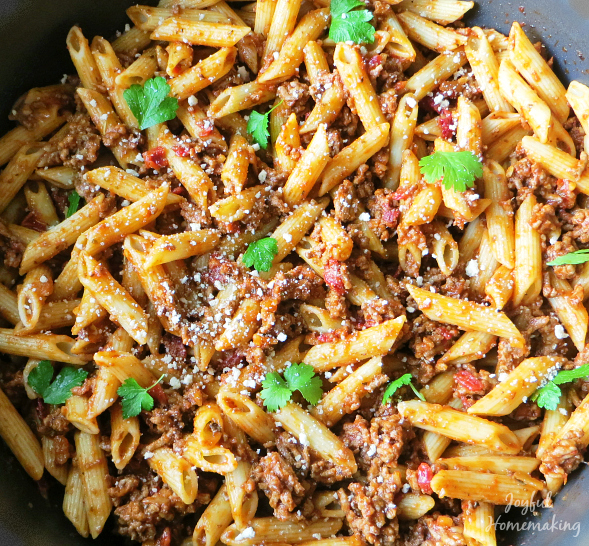 beefaroni with sundried tomatoes