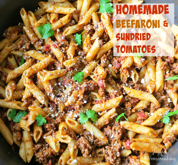 Homemade Beefaroni With Sundried Tomatoes