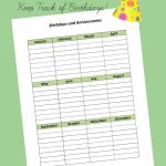 Birthdays and Anniversary Printable
