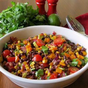 Southwestern Black Bean and Vegetable Salad, Joyful Homemaking