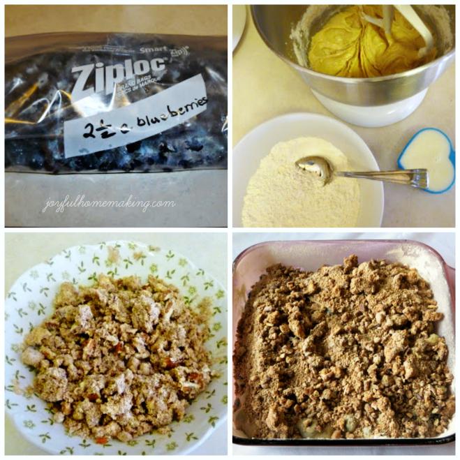 blueberry coffee cake, Scrumptious Blueberry Coffee Cake, Joyful Homemaking