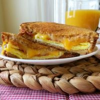 Grilled Cheese Breakfast Sandwich