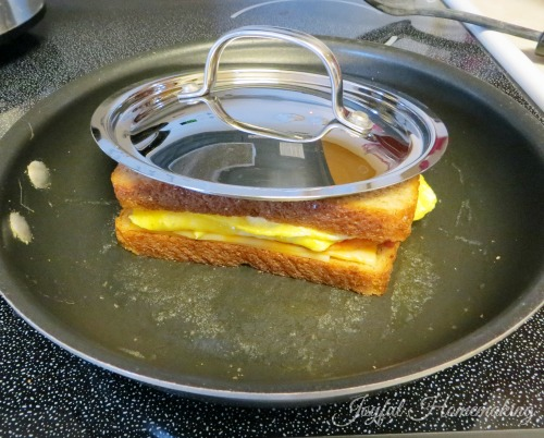 grilled cheese, Grilled Cheese Breakfast Sandwich, Joyful Homemaking