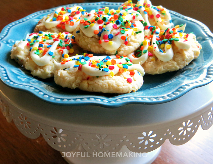 Confetti Cake Mix Cookies