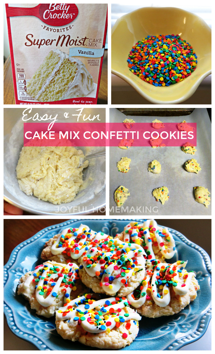 Cake Mix Confetti Cookies, Cake Mix Confetti Cookies, Joyful Homemaking