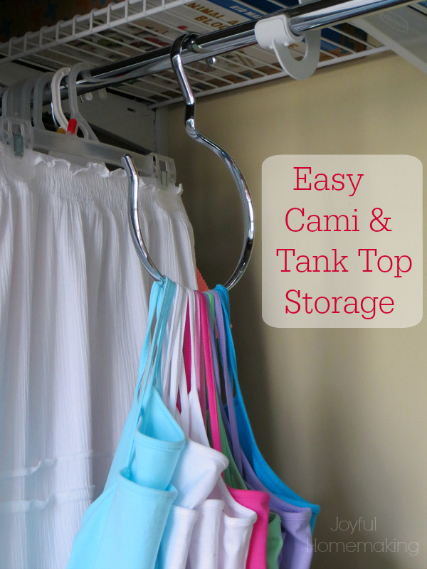 Camisole and Tank Top Organization, Camisole and Tank Top Organization, Joyful Homemaking