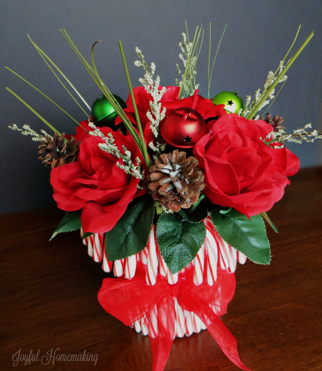 candy cane flower arrangement5