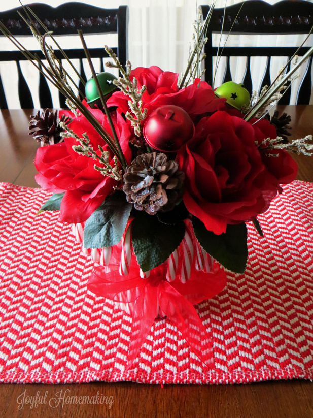 candy cane flower arrangement6