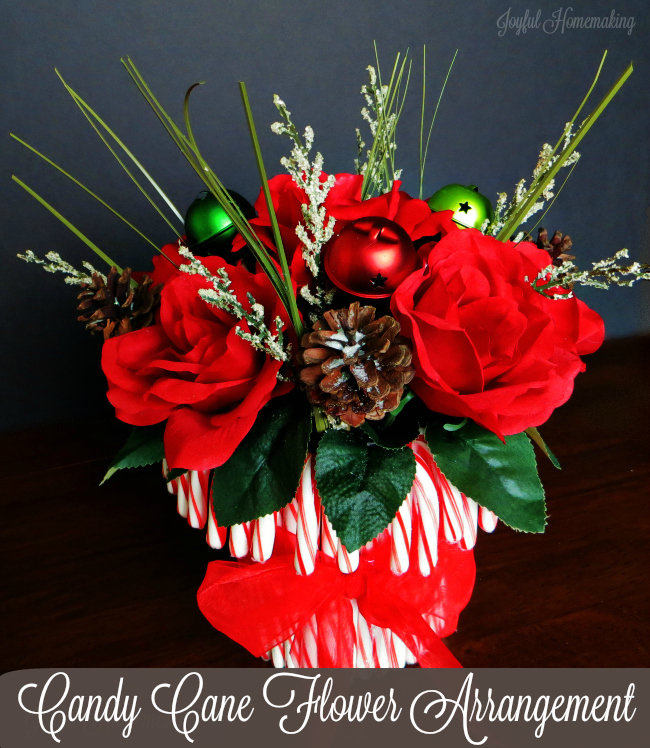 candy cane flower arrangement8
