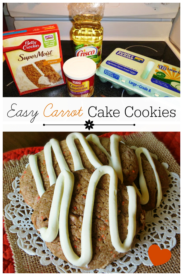 Cake mix carrot cake cookies