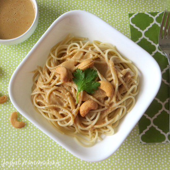 cashew sesame noodles dinner ideas for the week