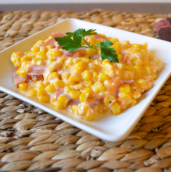 cheddar ham and corn casserole
