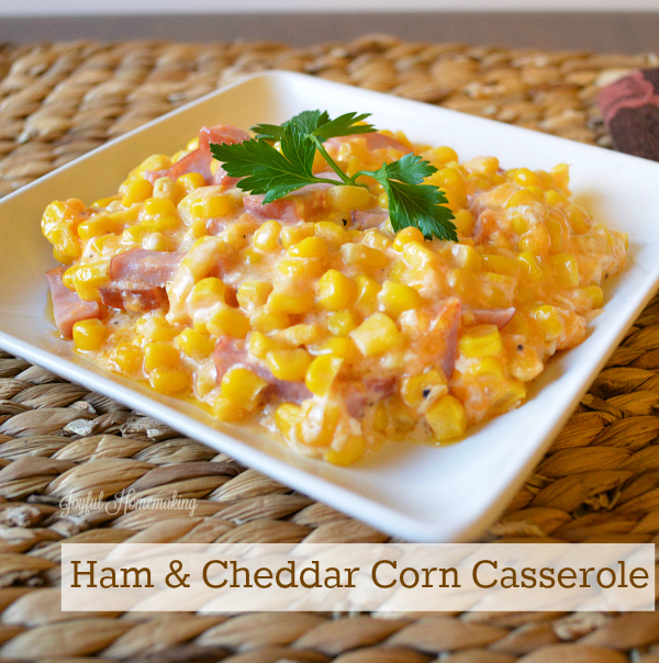 cheddar ham and corn casserole2