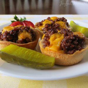 cheeseburger biscuit, Cheeseburger Cups, Joyful Homemaking