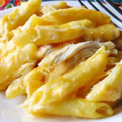 Cheesy Chicken Casserole – Lightened Up