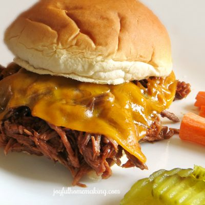 Leftover Beef Roast into a Cheesy BBQ Beef Sandwich