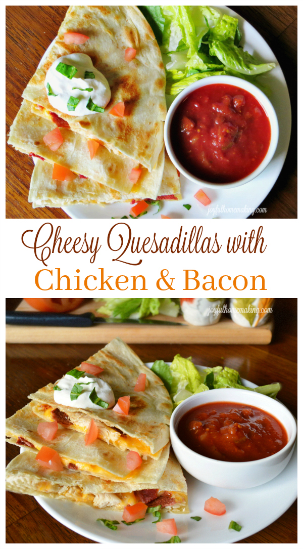 Quesadilas with chicken and bacon